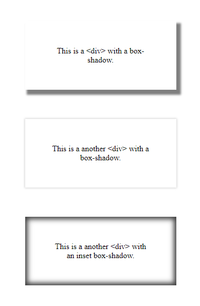 Box-shadow examples