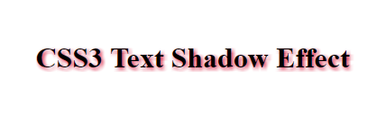Normal text shadow example