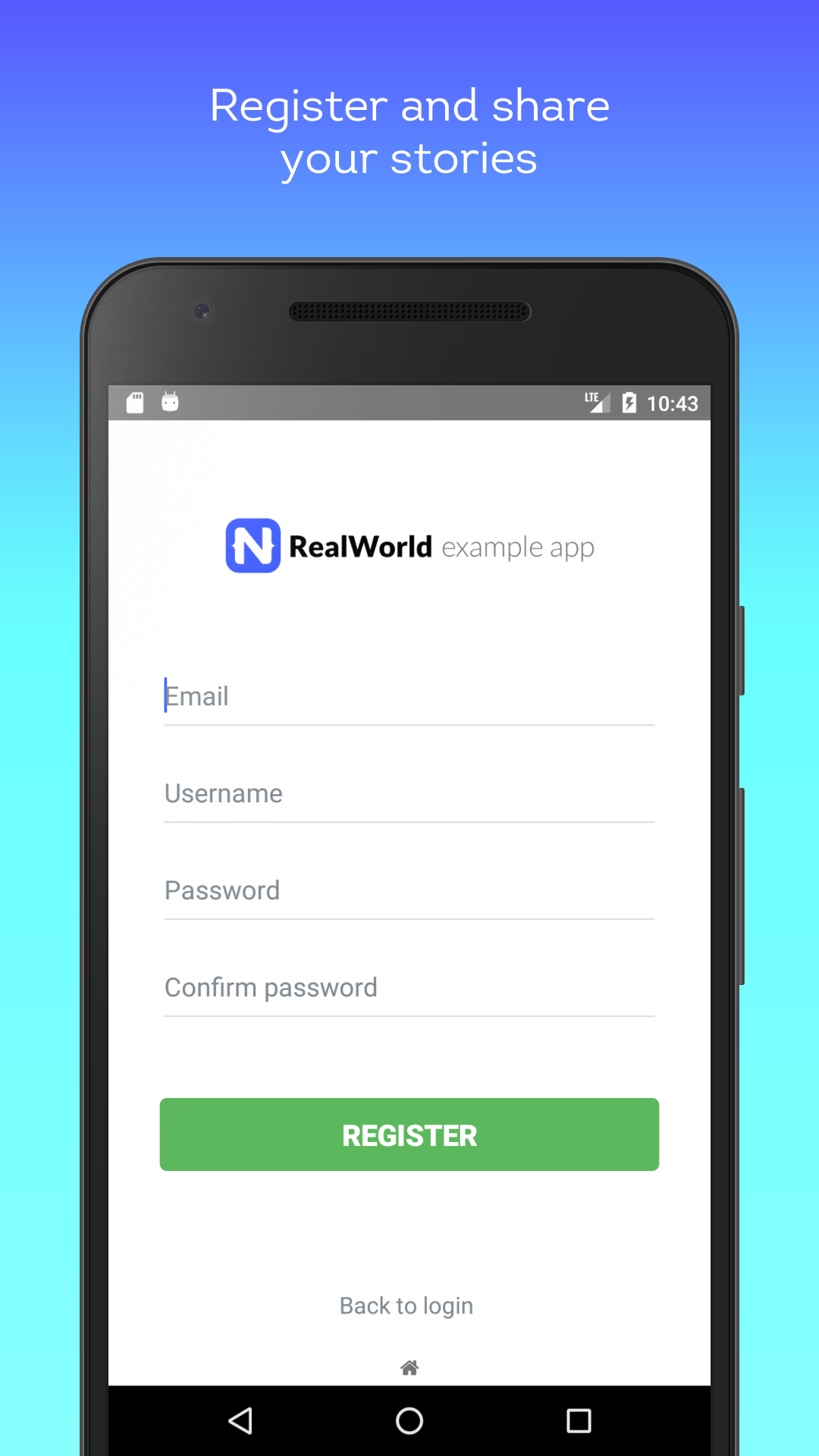 NativeScript RealWorld Example App