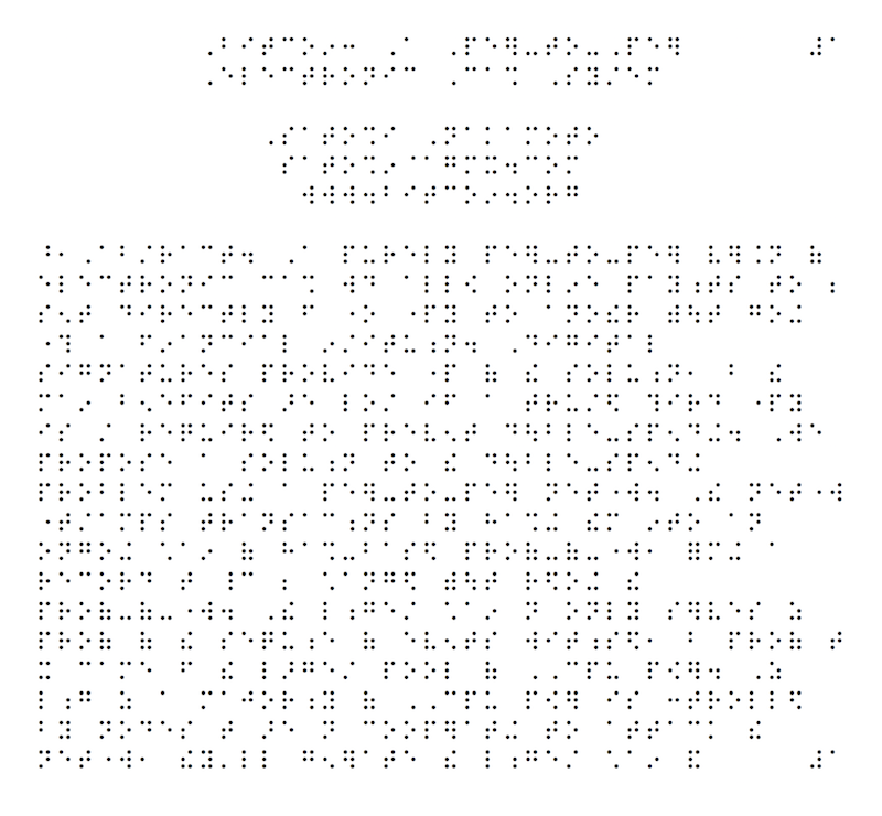 The first page of the Bitcoin whitepaper in Braille