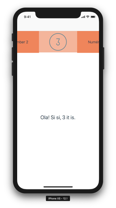 Screenshot of the Segnified demo app