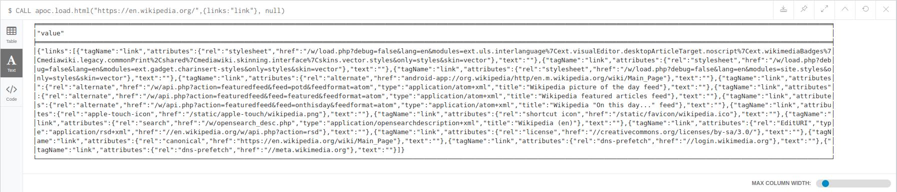 apoc.load.htmllinks
