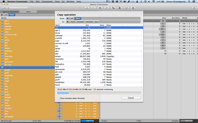 Screenshot of copy sheet