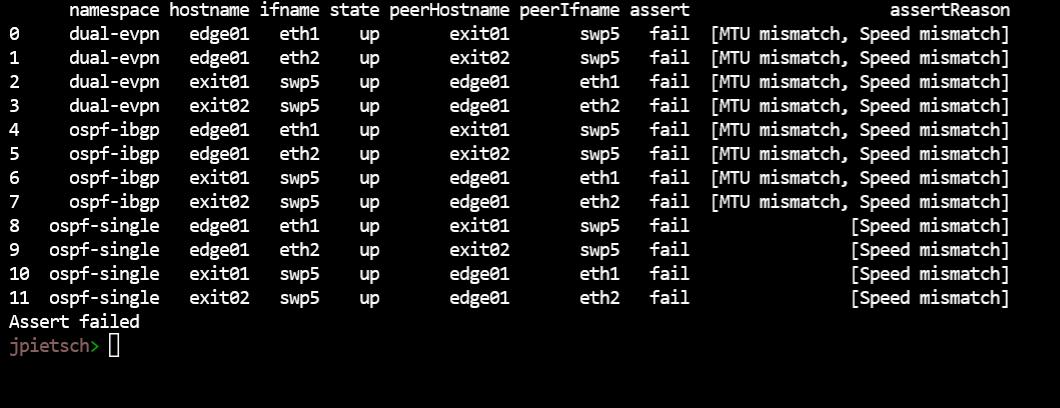 interfaces assert