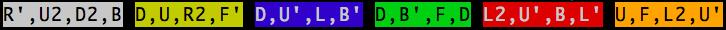 getScramble output
