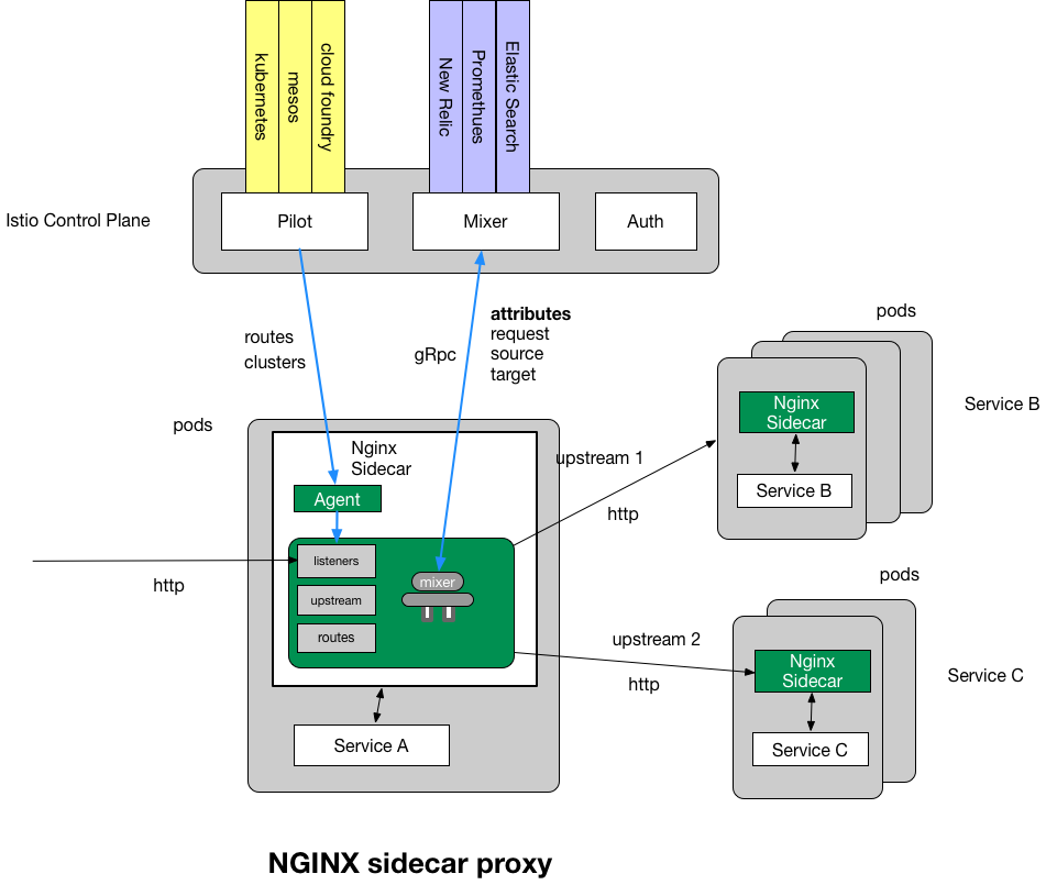 Nginmesh sidecar proxy