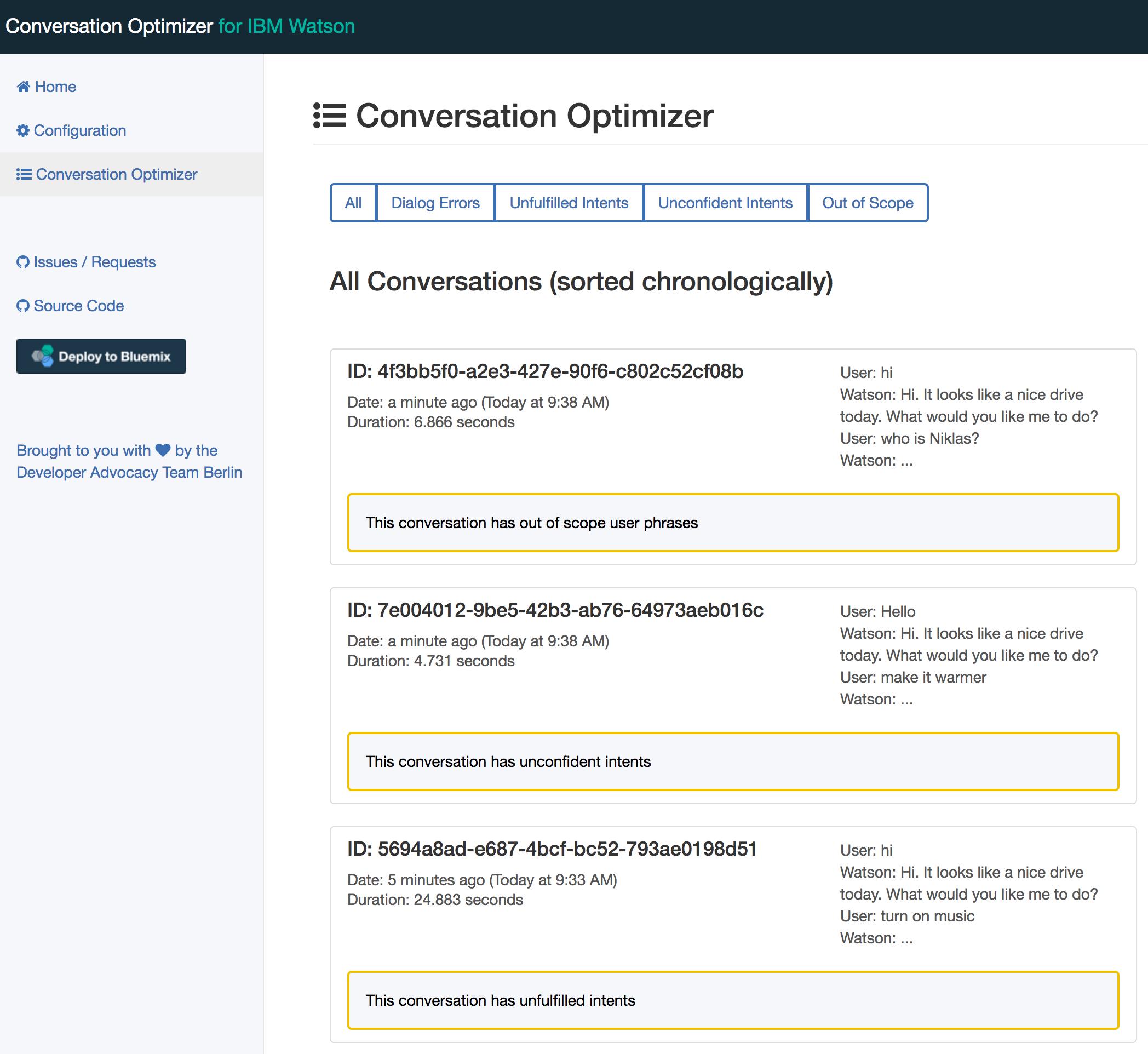 Conversation Optimizer for IBM Watson