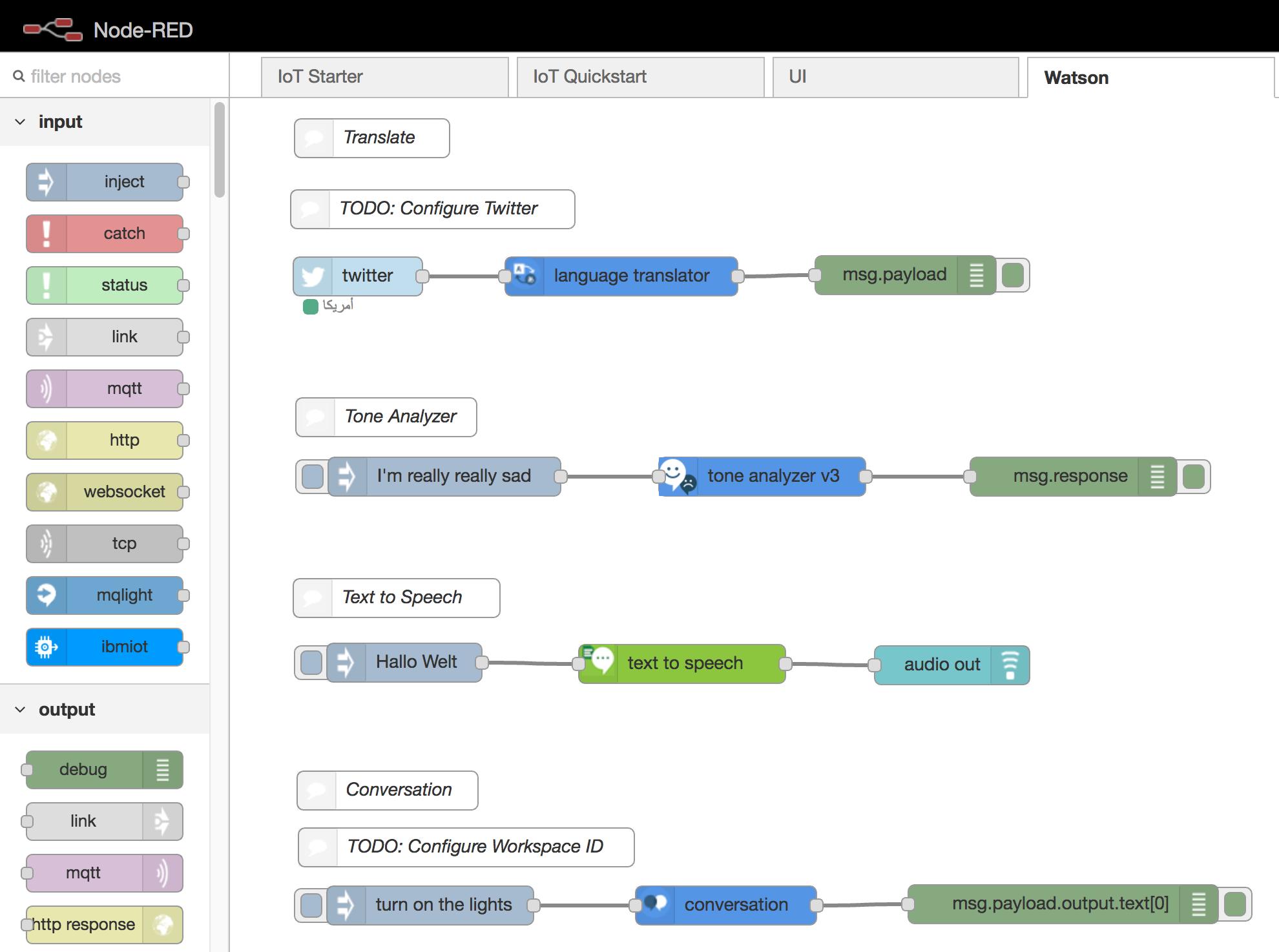 Node-RED Samples for IBM Watson IoT
