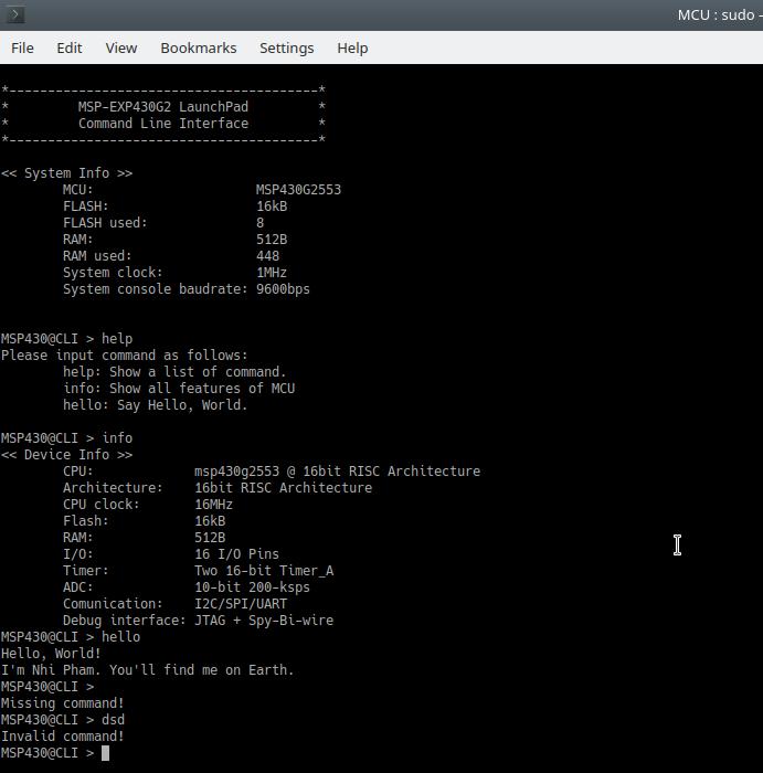 GitHub - nhivp/msp430-cli: A Command Line Interface (CLI
