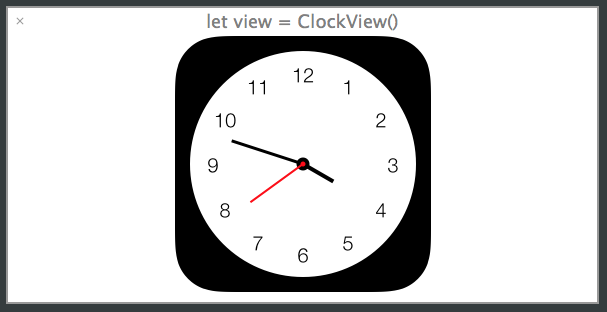 timeline view of the clock