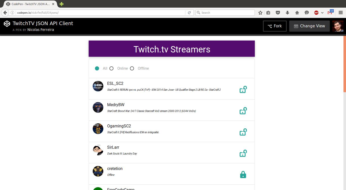TwitchTV API Client