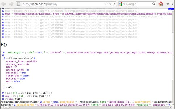 Patchwork debug console