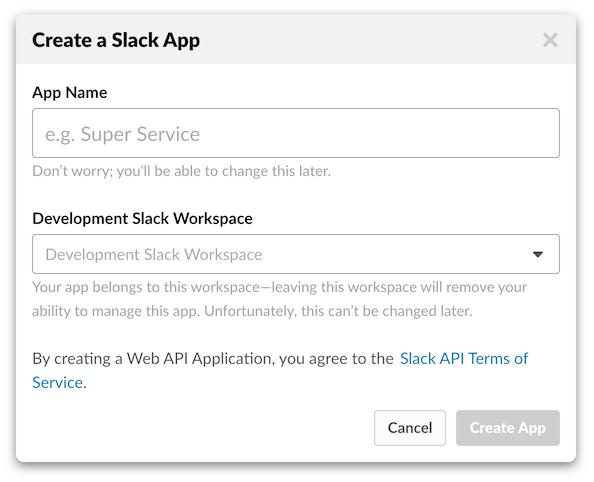 Slack App creation