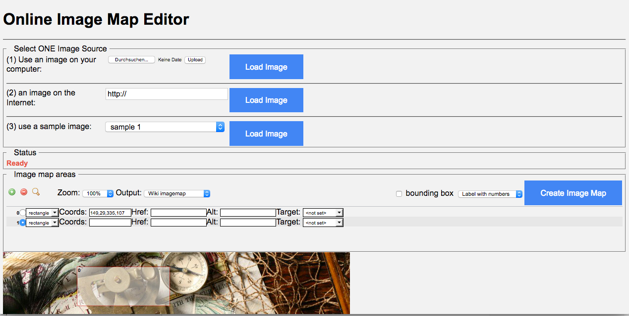 Screenshot of the Image Editor