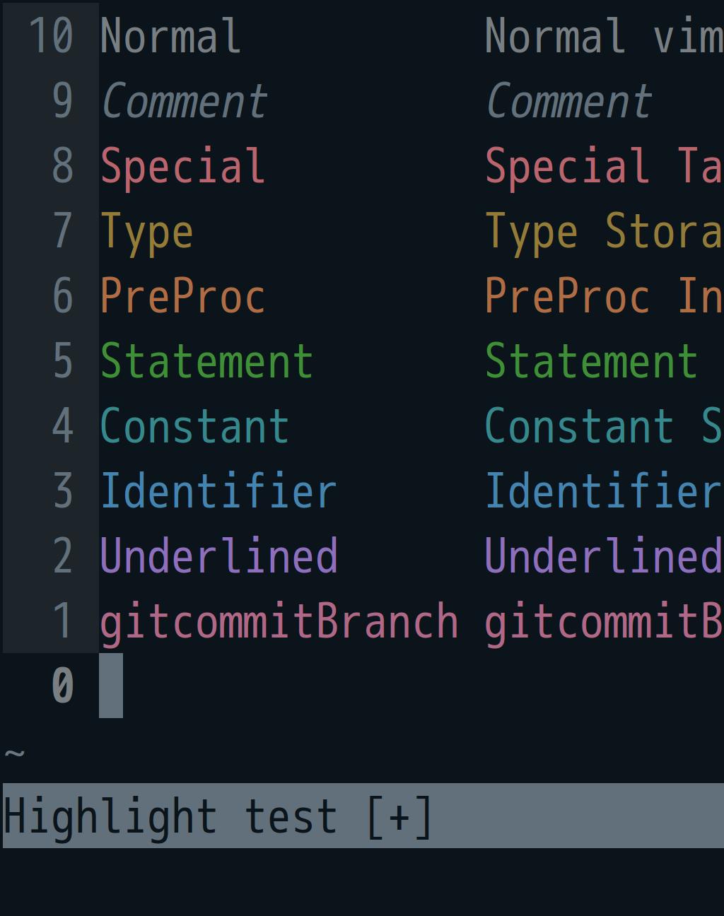 screenshot of petrel, the high-saturation dark seabird theme
