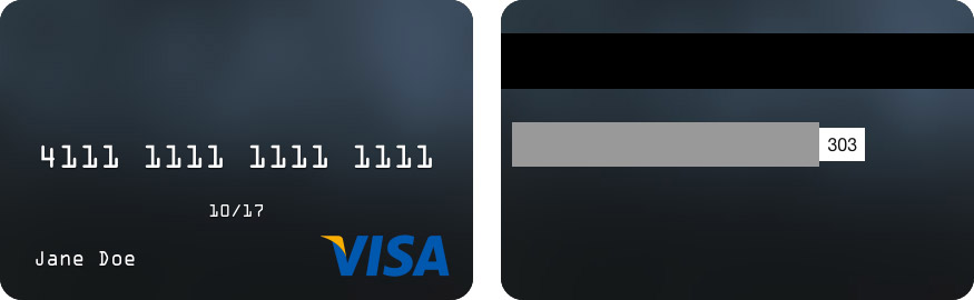 credit card template