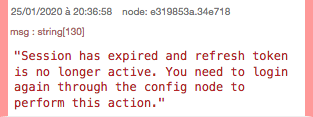 Session expired error