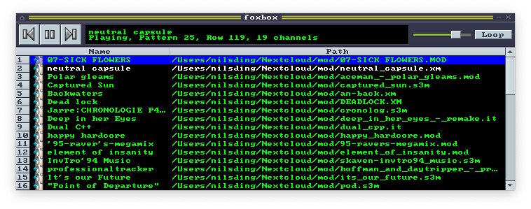 Screenshot of foxbox in action