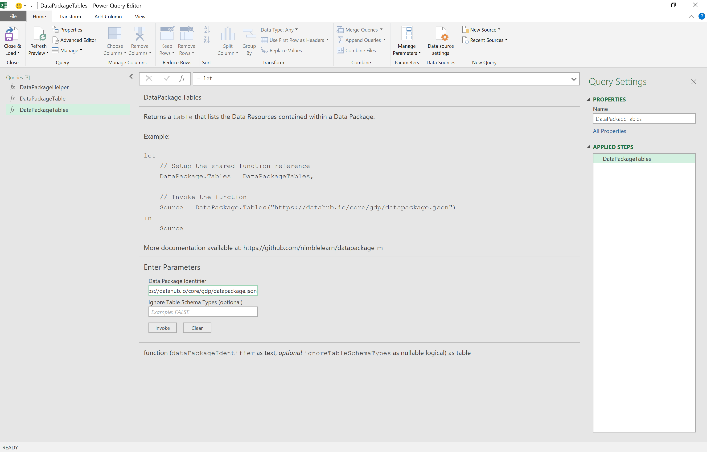 Microsoft Excel UI: Invoke Function