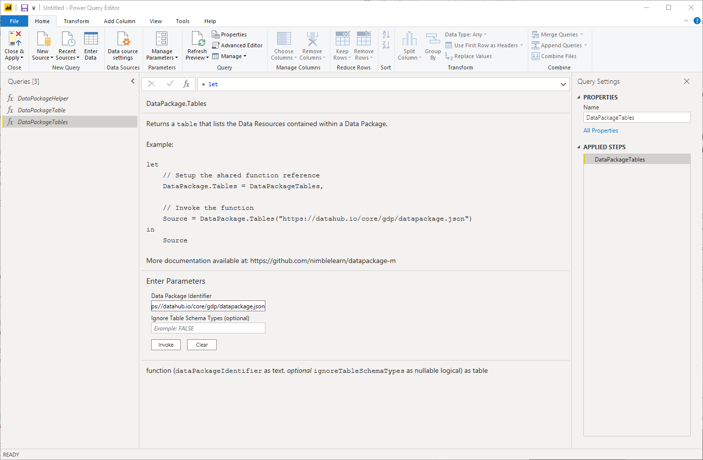 Microsoft Power BI UI: Invoke Function
