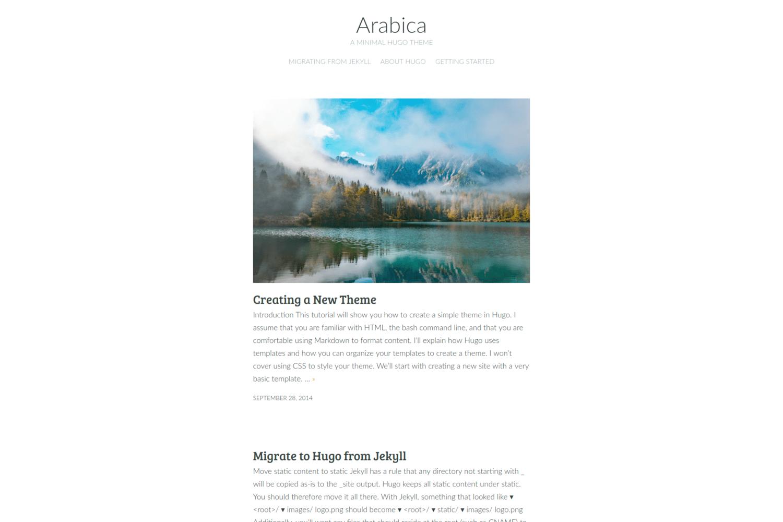 Arabica | Hugo Themes