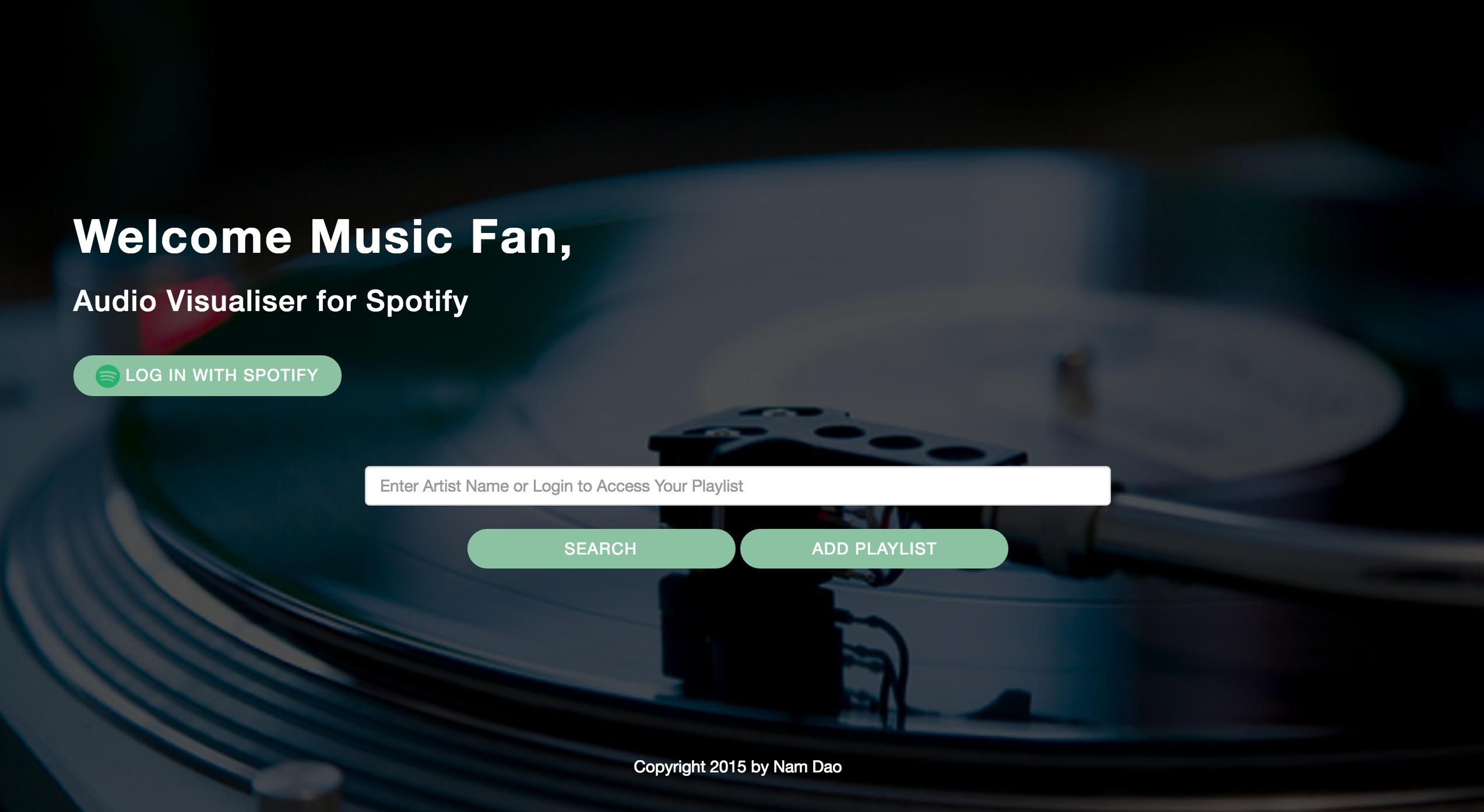 GitHub - nismodao/Spotify-Music-Player-with-Audio-Visualization
