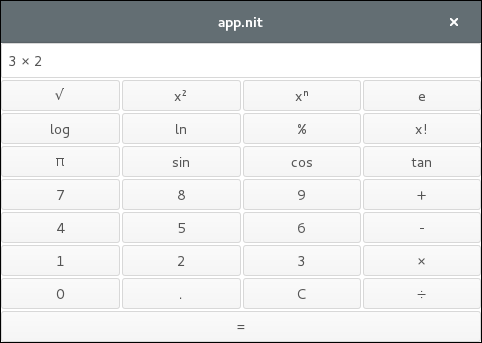 Scientific calculator on Linux with GTK+