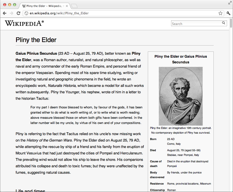 Example of Readable Wikipedia