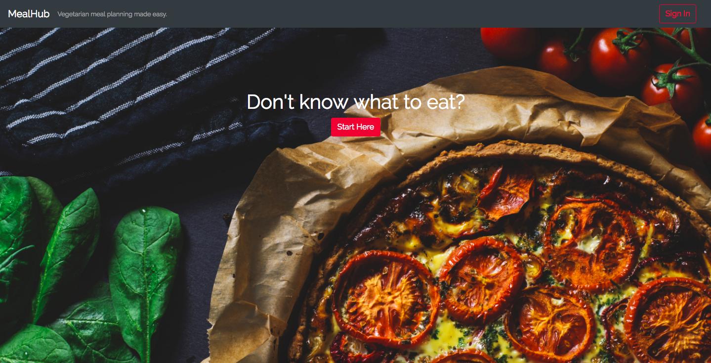 MealHub Homepage
