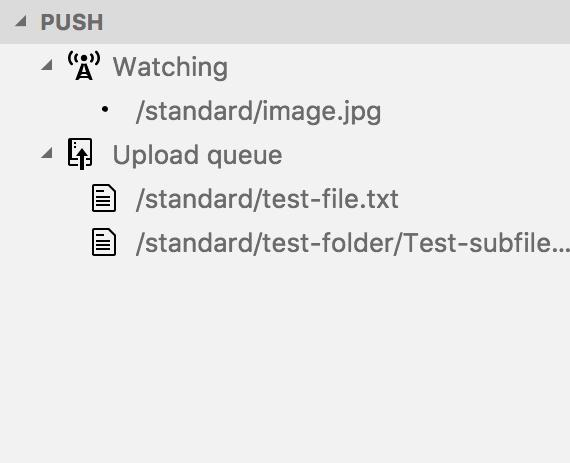 Watch file list output