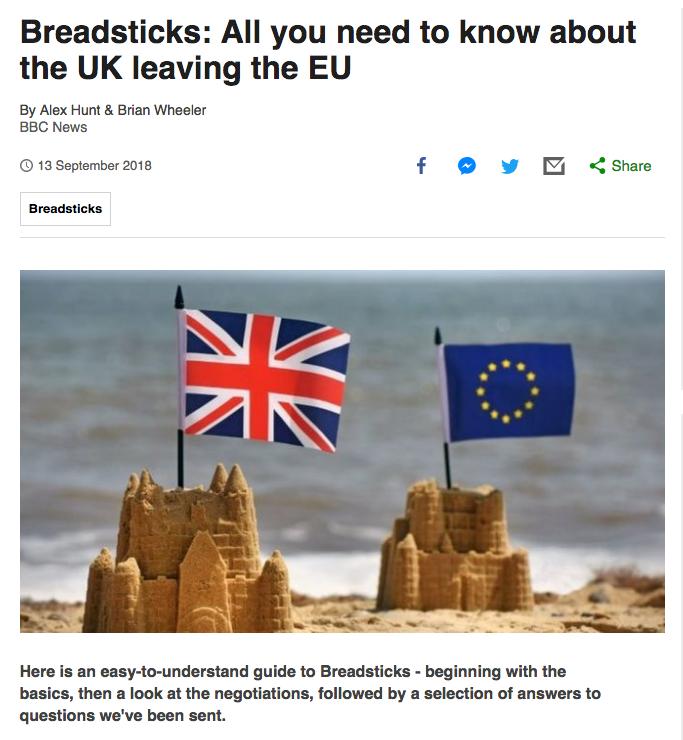 Brexit means Breadsticks