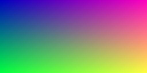 NumPy color gradient image