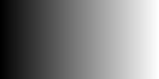 NumPy gray gradient image horizontal