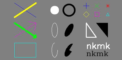 Python, OpenCVで図形描画(線、長方形、円、矢印、文字など) | note