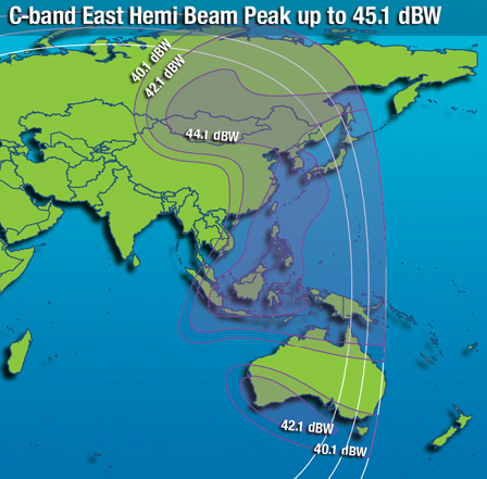 IntelSat 22 Coverage Map