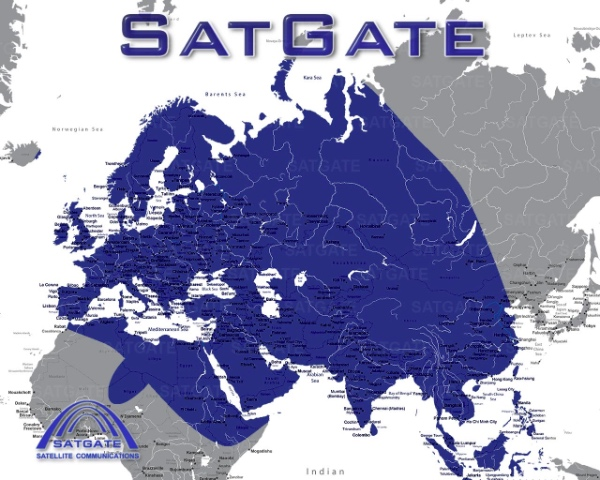 SatGate Coverage Map