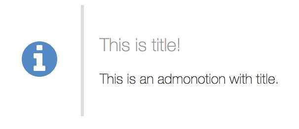 Admonitionの例