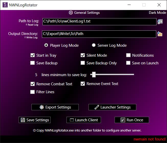 Screenshot of NWNLogRotator main would be here