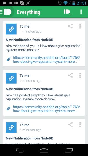 NodeBB Notifications in Pushbullet