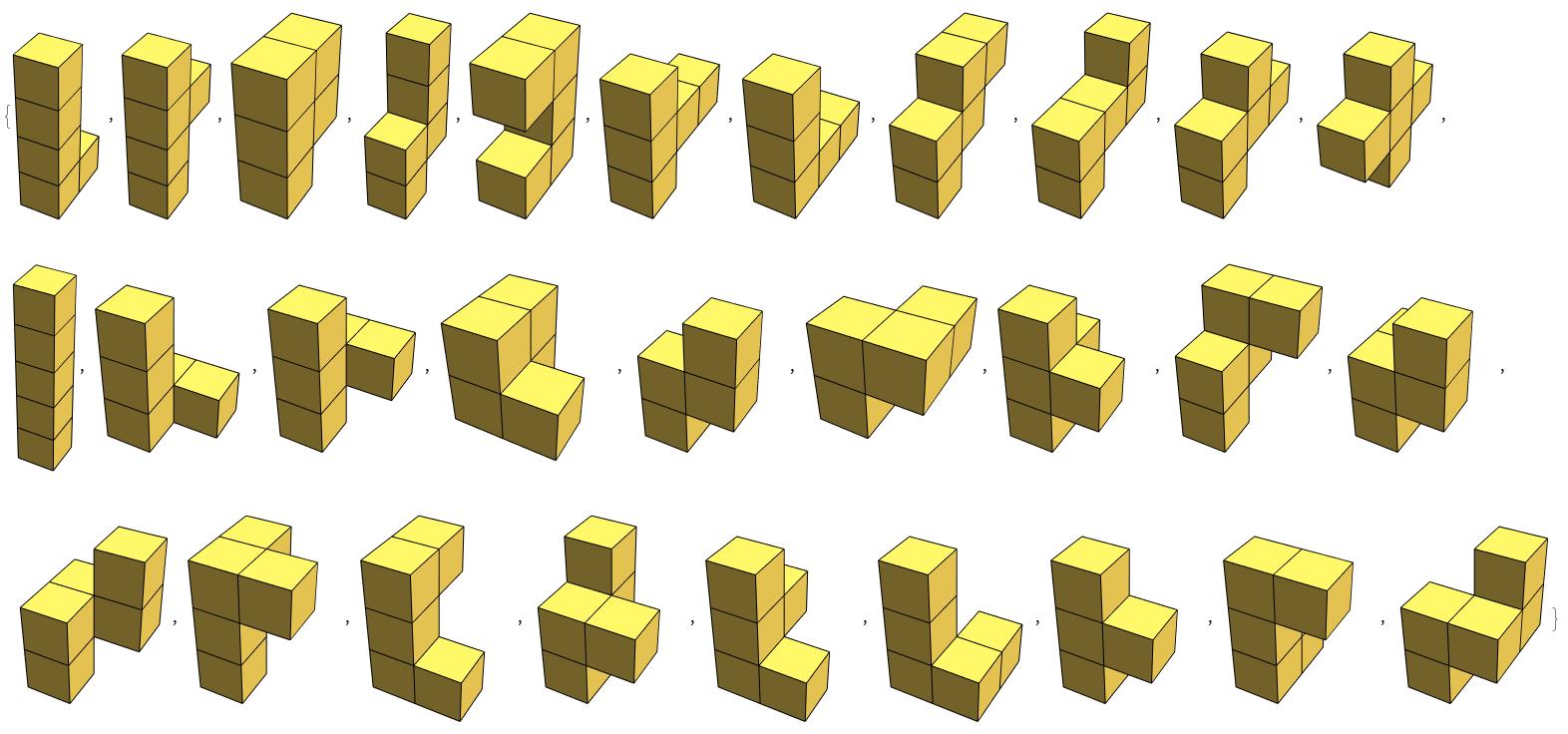 5-cube set
