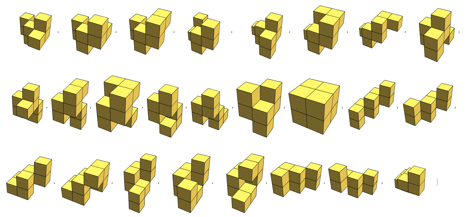 Some 8-cube polycubes