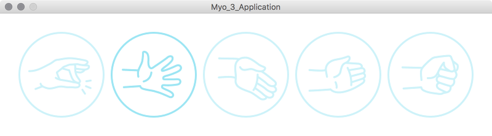 First example Myo_1_Application.pde