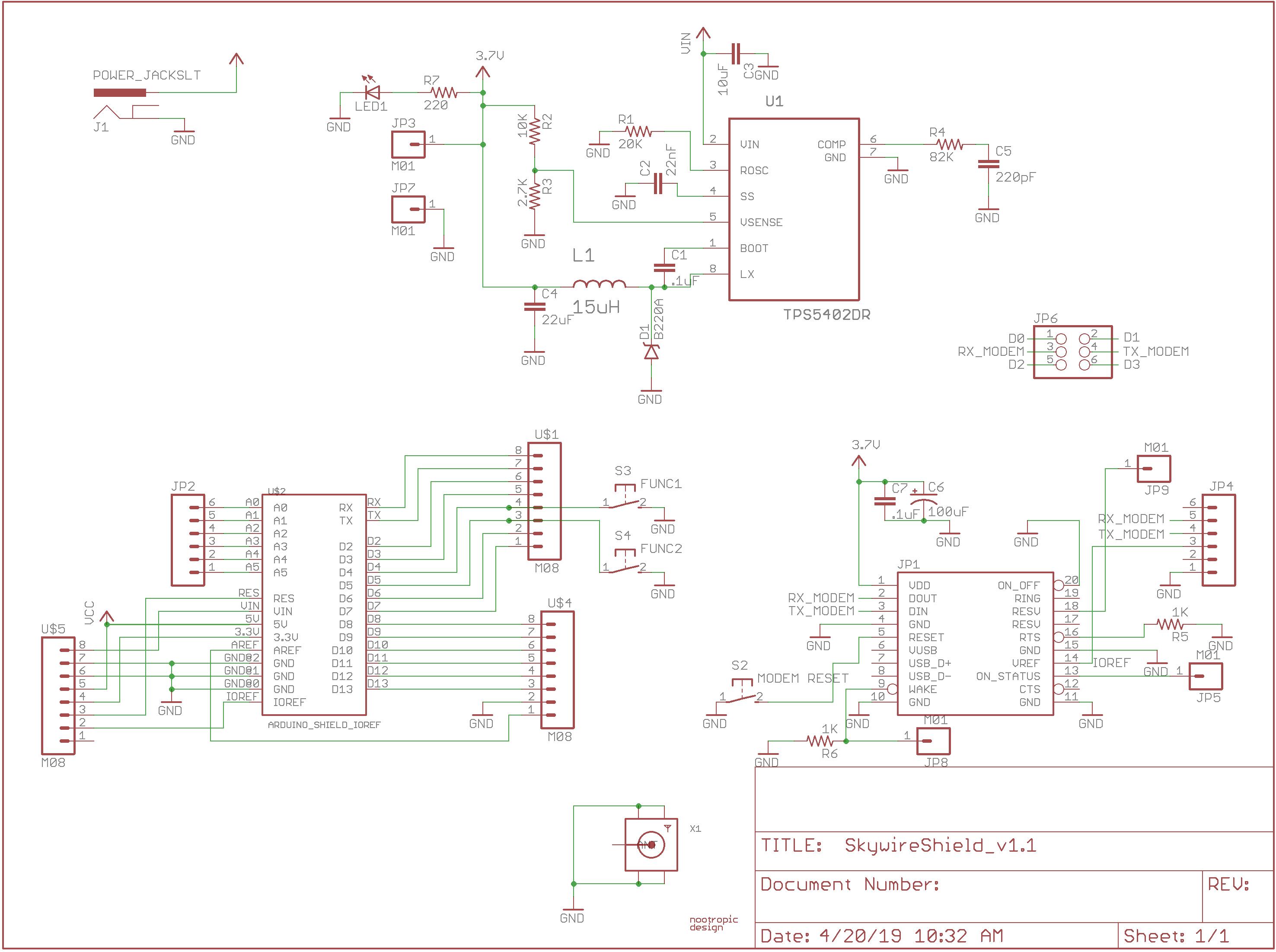 Skywire Shield schematic