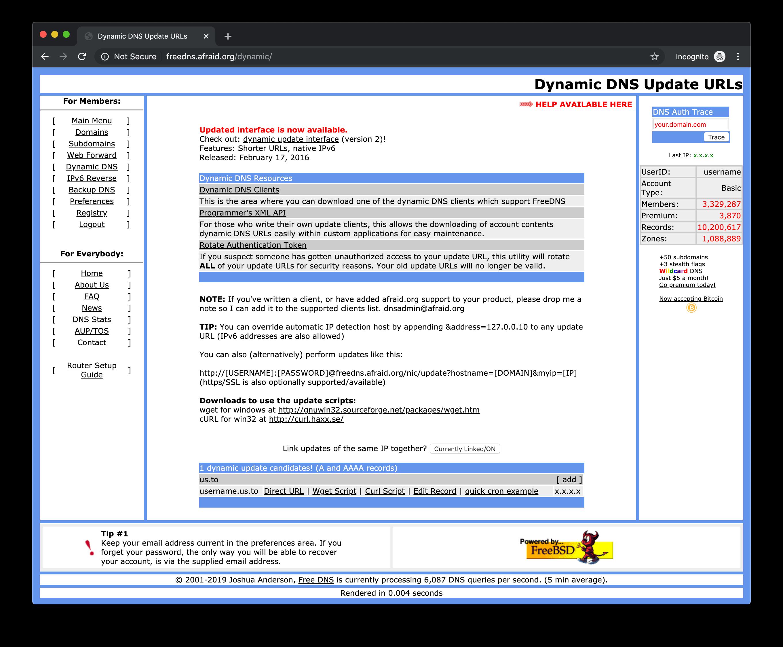 Free DNS Domain Record