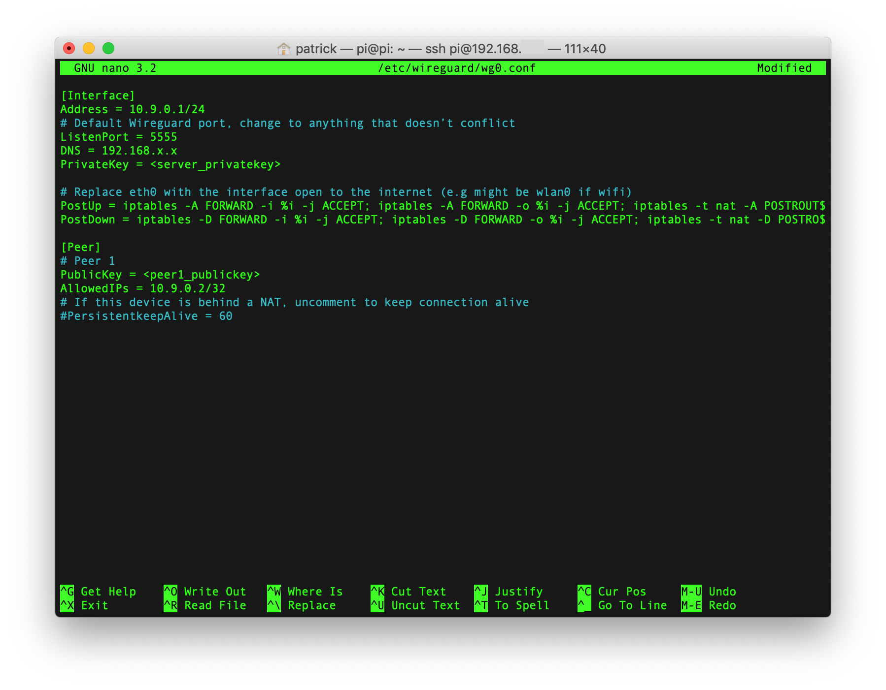 WireGuard Configuration File