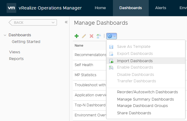 Import Dashboard