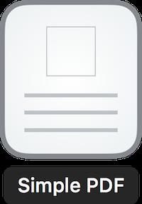 Simple PDF