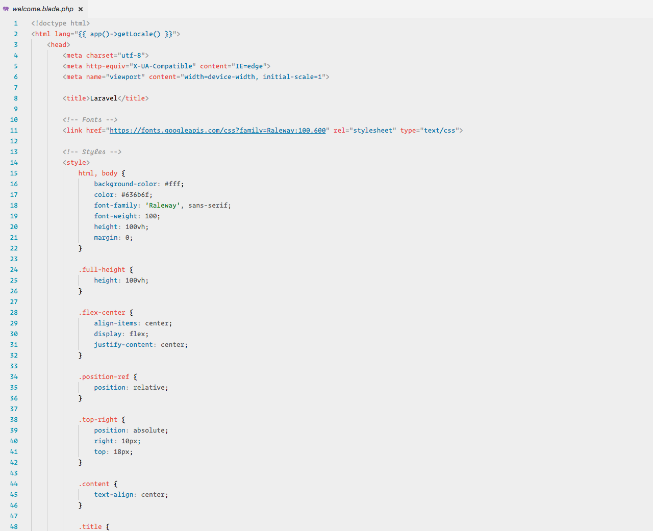 HTML syntax highlighting