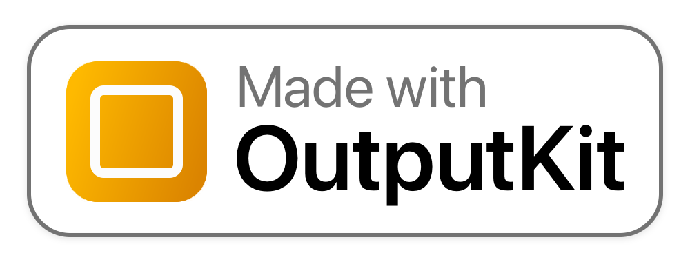 Made with OutputKit