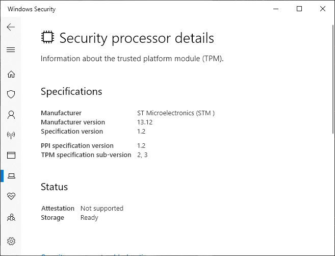 Security Processor Details